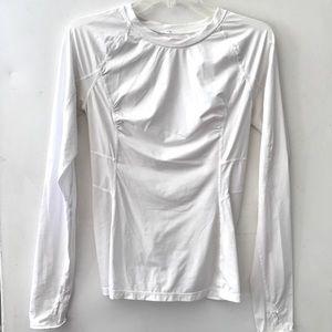 Lululemon white long sleeve shirt 6 8 euc